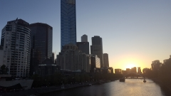 Sunset Over the Yarra River Melbourne VIC